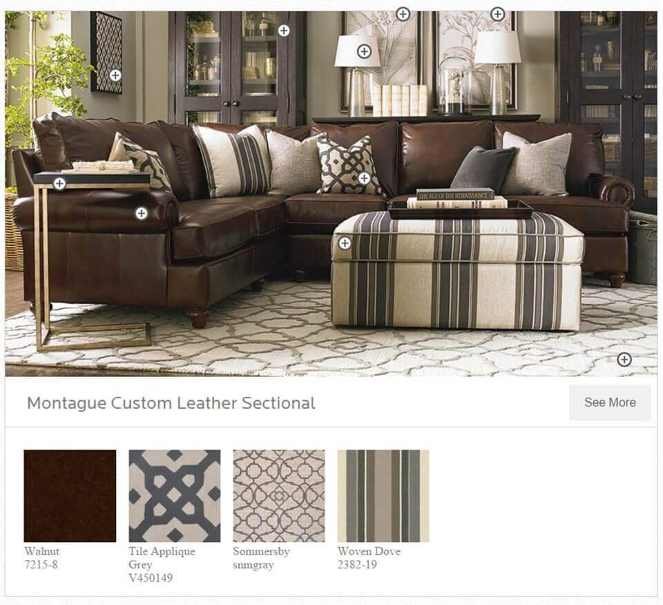 Montague Custom Leather Sectional