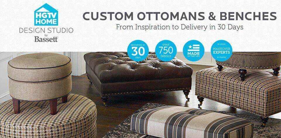 Custom Ottomans & Benches