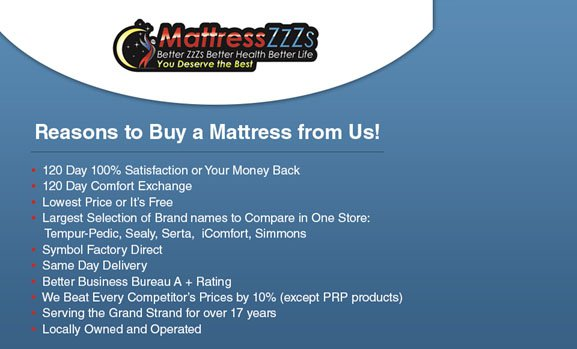Reasons to Buy a Mattress from Us!